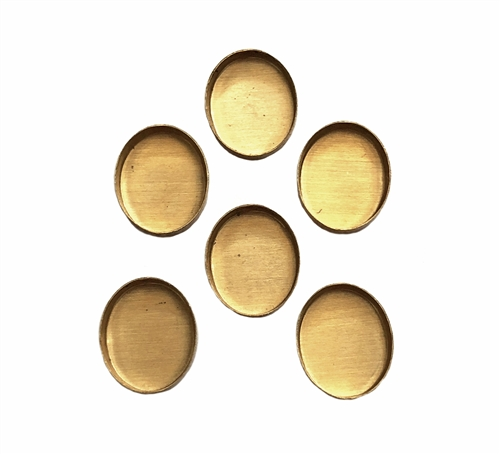 brass bezel, jewelry supplies, raw brass, 6x8mm, 05568, small bezels, jewelry making, B'Sue Boutiques, unplated brass, bezel, bezels, small bezel,