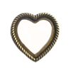 backless bezel, heart, 05922, backless heart, heart mount, heart bezel, textured heart, jewelry making, jewelry supplies, B'sue Boutiques, brass ox, brass ox heart, antique brass