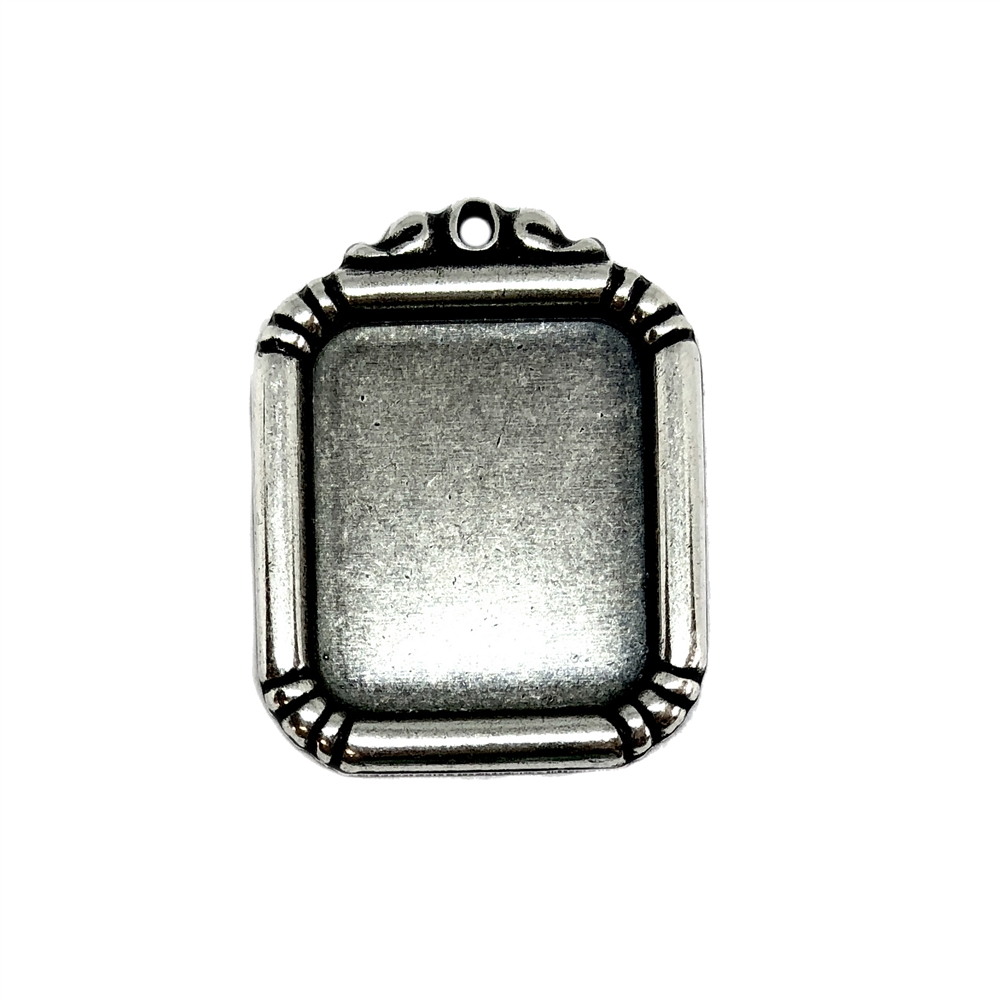 Frame Pendant, Silverware Silverplate, 06393, silver plated, framed mount, vintage jewelry supplies, silver frame, silver pendant, frame bezel, bezel, jewelry making, Bsue Boutiques