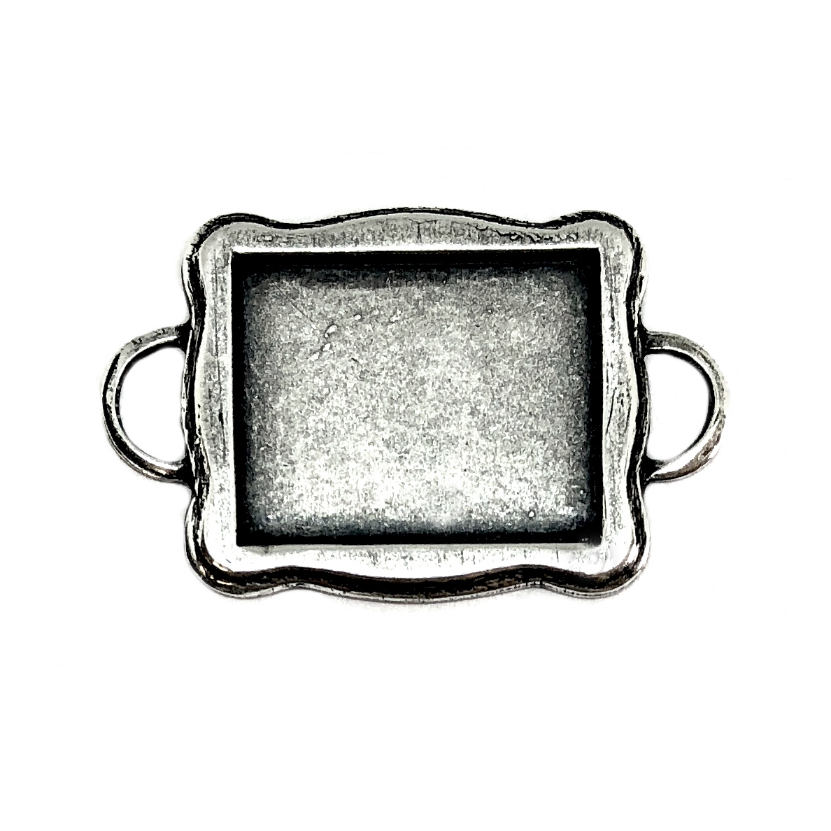 silver bezel, connectors, 06394, jewelry making, silverware silverplate, vintage jewelry supplies,  bezel frames, jewelry making, US Made, nickel free, Bsue Boutiques, silver frame, frame bezel, frame connector, bezel connector