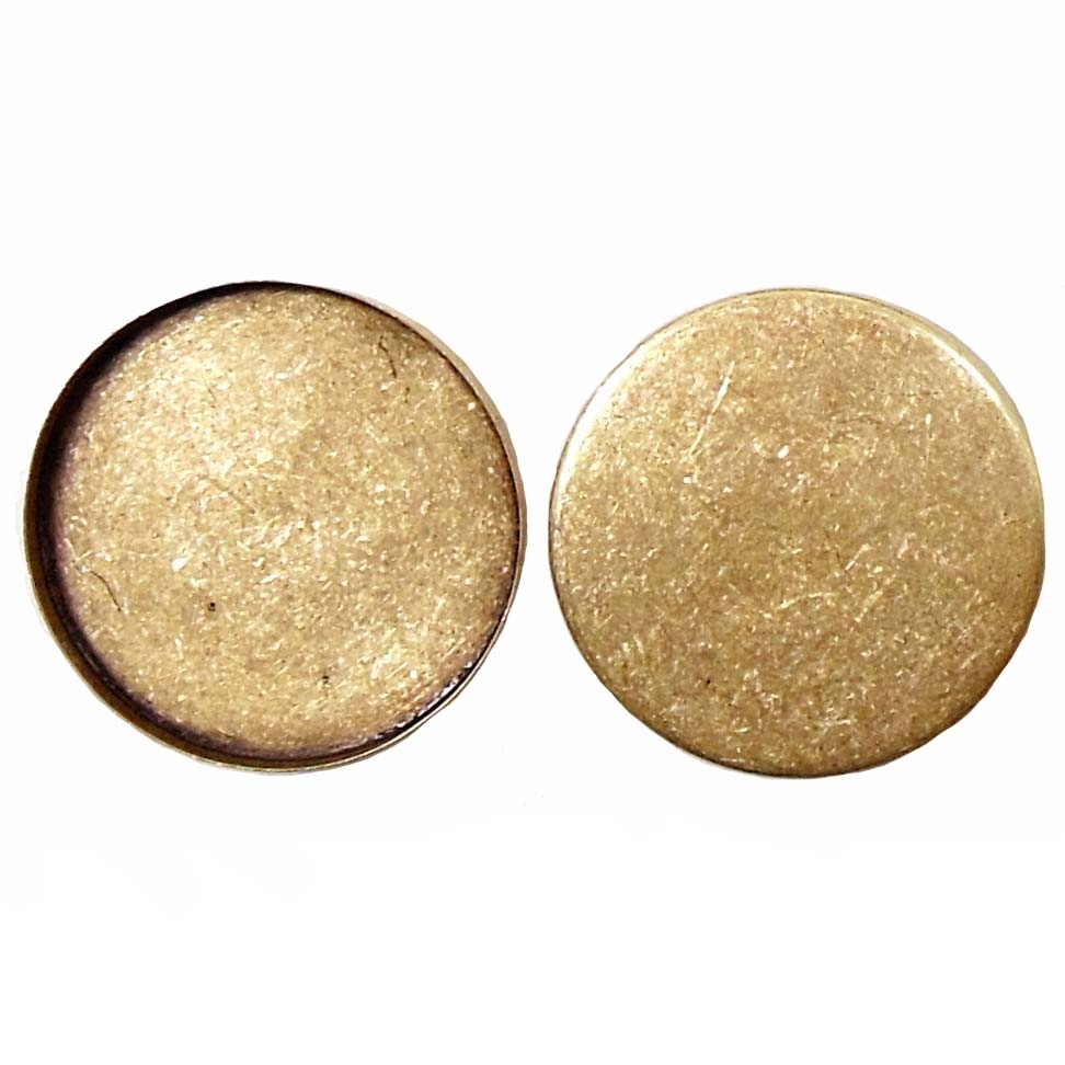 Brass Bezel, Standard Wall (3mm), 30mm Mount,  Brass Ox, US Made, Nickel Free