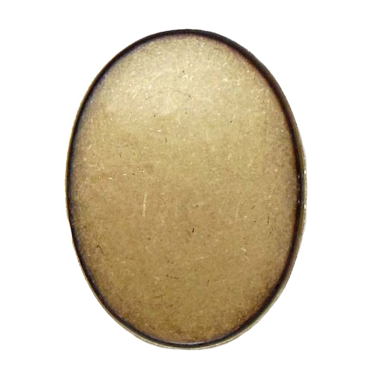 brass ox bezel, 06476, 40x30mm, bezel, brass ox, mount, brass ox mount, oval bezel, brass ox oval bezel, cabochon bezel, jewelry supplies, jewelry making, B'sue Boutiques, oval