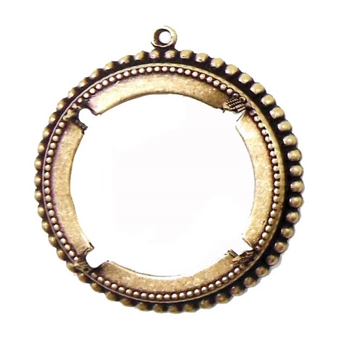 brass bezel, backless bezel, brass pendant, 07776, vintage jewelry supplies, jewelry making supplies, brass ox, antique brass, bsue boutiques, nickel free, US made, 30mm