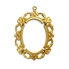 brass stampings, backless bezel, jewelry supplies, 08450, jewelry making supplies, vintage jewelry supplies, vintage style bezel, US made, nickel free, heart border bezel, jewelry mount, classic gold, antique gold