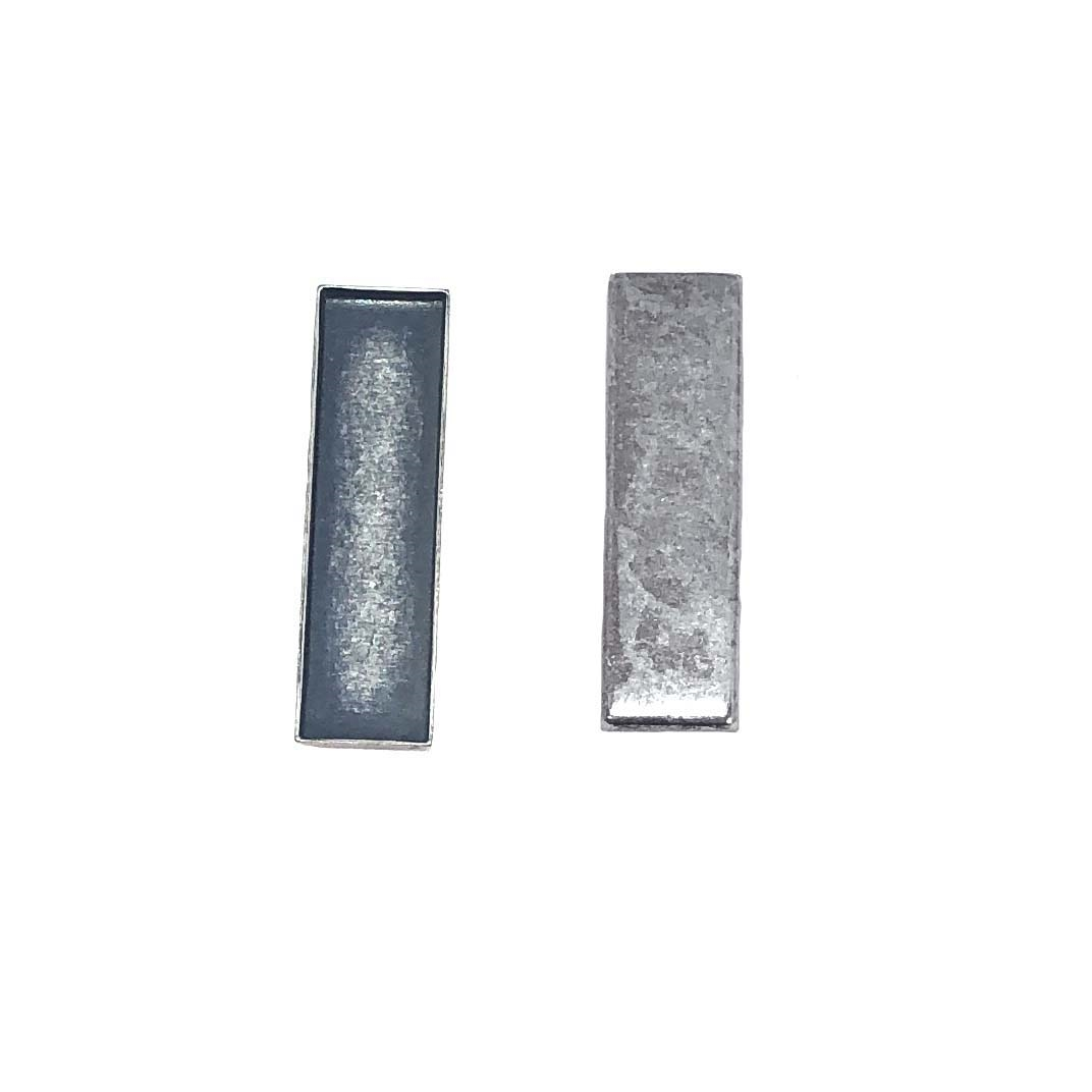 bezel, rectangular, silverplate, 08610