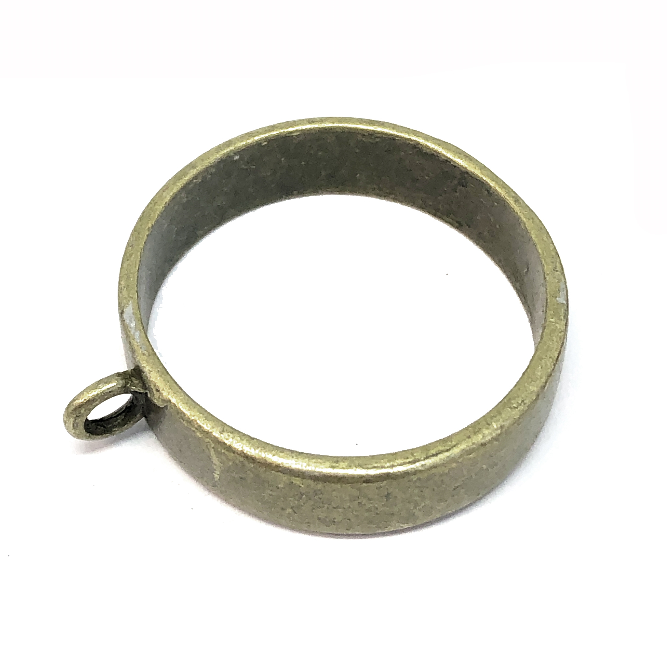 backless bezel, zinc alloy, antique bronze, 08896, vintage jewelry supplies, jewelry making supplies, deep well bezel, bsue boutiques, nickel free, US made, 25mm mount, jewelry findings,