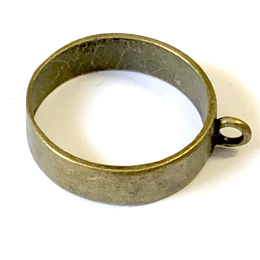 porthole bezel, backless bezel, antique bronze, 09156, B'sue Boutiques, nickel free jewelry supplies, vintage jewellery supplies, US made jewelry supplies, antique brass, vintage findings, bezel pendant