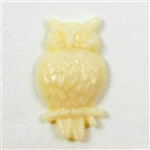 bird Jewelry, resin owls, cream, 03921, 24 x 13mm, B'sue Boutiques, plastic birds, bird jewelry, vintage jewellery supplies, flat back birds, owl jewelry, plastic owls, bird findings