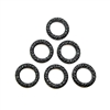 jump rings, toggles, matte black, 10mm