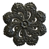 floral filigree flower stamping, matte black, ebony brass, filigree flower, brass stamping, floral stamping, jewelry stamping, jewelry flower, jewelry making, vintage supplies, jewelry supplies, matte black flower, jewelry findings, 46mm, 02525