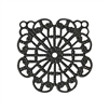 filigree pendant, matte black, ebony brass, filigree, pendant, black, beading filigree, filigree, filigree pendant, jewelry filigree, jewelry making, vintage supplies, jewelry supplies, jewelry findings, filigree design, 42x40mm, B'sue Boutiques, 02714