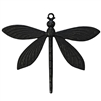 art deco dragonfly, matte black, ebony brass, dragonfly, insects, dragonfly jewelry, jewelry making, vintage supplies, jewelry supplies, US made, nickel free, B'sue Boutiques, 52x64mm, dragonfly stamping, 02796