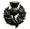 scottish thistle stamping, matte black, ebony brass, flower, stamping, brass, 39x34mm, thistle, scottish thistle, flower stamping, pendant, cuff, black, us made, nickel free, B'sue Boutiques, jewelry making, jewelry findings,jewelry supplies,vintage,03582