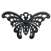 brass butterflies, jewelry making, matte black, 03599, black brass, jewelry making supplies, vintage jewelry supplies, US made, nickel free jewelry supplies, b'sueboutiques, black, butterfly, bugs, insects
