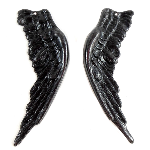 brass wings, bird wings, matte black, 05025, antique black, vintage jewelry supplies, brass jewelry parts, jewelry making supplies, US made, nickel free, Bsue Boutiques