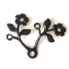 brass stampings, flowers, matte black, 08493, flower findings, vintage flowers, made in the USA, brass flowers, antique black, vintage style, vintage brass, old flower parts, old jewelry parts, B'sue Boutiques