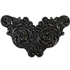 brass winged stampings, matte black, 09059, winged stampings, brass stampings, vintage jewelry supplies, Victorian style stampings, US made, nickel free jewelry supplies, bsueboutiques, antique black,
