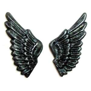 brass wings, bird wings, matte black, 09090, antique black, vintage jewelry supplies, brass jewelry parts, jewelry making supplies, US made, nickel free, Bsue Boutiques