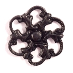 brass flower, brass connector, jewelry making,matte black, 09269, beading flower, open flower, antique black, jewelry findings, vintage jewelry supplies,