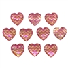 pink mermaid scale cabochons, hearts, 03140, flat back cabs, resin cabochons, jewelry making supplies, vintage supplies, heart shaped cabs, iridescent cabochons, mermaids, fish scales, pink hearts, 12mm