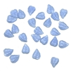 Czech glass leaves, no hole, 03449, 8x6mm, embellishments, Ceralun, resin, assemblage, small leaves, blue leaves, blue leaf, glass leaf, glass leaves, leaves, leaf, Czech, blue