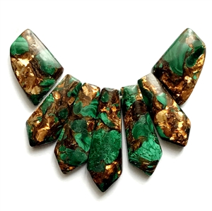 vintage stones, Bsue Boutiques, 03633, rare vintage stones, jewelry making, vintage jewelry, jewelry supplies, crushed gemstones, jasper stones, stone supplies, stone cabochon, malachite and bronze impressions stones