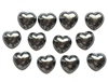 Tahitian Heart Shape Pearls, 12 Pieces, High Dome, Hearts, Flat Back, 17mm