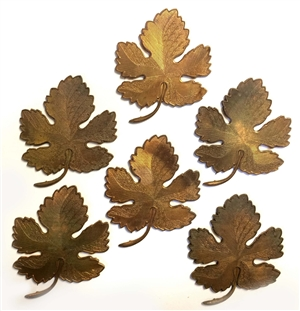 vintage brass leaf stamping, brass leaves, raw patina brass, 03821, vintage jewelry supplies, US made, nickel free jewelry supplies, jewelry making supplies, bsue boutiques
