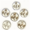 Vintage Crystal Floral Stones, 6 Piece, Floral Stones, Cabochons, Vintage German, Vintage Jewelry Supplies, B'sue, 18mm