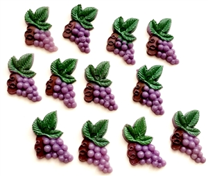Vintage Japanese Plastic Grapes, 04528, plastic grapes, plastic fruit, flat back plastic fruit, purple grapes, molded plastic, vintage jewelry supplies, vintage molded plastic fruit, Bsue Boutiques,