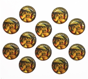 vintage farmer's market cabochons, epoxy resin, flat back cabs, resin cabochons, cabochon, resin, farmer's market, vintage epoxy resin, 18mm, jewelry making, jewelry supplies, vintage supplies, jewelry findings, B'sue Boutiques, 05155