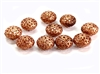 vintage filigree beads, copper coat beads, 05457, vintage beads, metal beads, antique copper, filigree beads, orb beads, brass beads, beading supplies, vintage jewelry supplies, jewelry making supplies, puffy beads