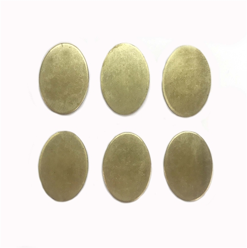 Oval Blanks, Raw Brass, Blank, Blanks, Base, 05525, jewelry making, jewelry supplies, B'sue Boutiques, brass stamping, stamping, stampings, unplated brass, oval,  20x14mm