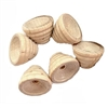 Wooden bead caps, vintage bead caps, 05544, vintage jewelry supplies, US made, jewelry making supplies, beading supplies, handmade jewelry, corrugated bead caps, corrugated wood, natural finish