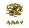 pear shaped dapt blank, raw brass, blank, drilled base, brass, US made, drilled blank, dapt blank, dapt, drilled, unplated brass, 16x12mm, jewelry making, vintage supplies, jewelry findings, jewelry supplies, charm blanks, charm, embellishment, 05615