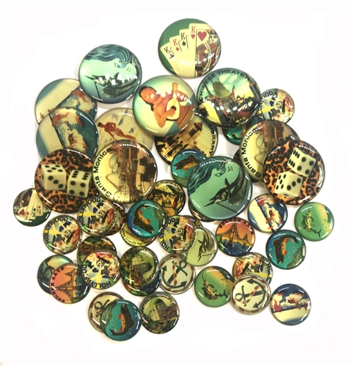 Vintage Epoxy Resin Cabochons, 05626, flat back cabs, resin cabochons, jewelry supplies, vintage supplies, B'Sue Boutiques, jewelry making, vintage, resin, cabochons, epoxy