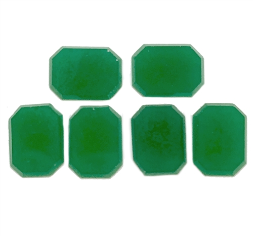 Czech Glass Stones, Peking Green, 05779, cushion cut, octagon stones, vintage jewelry supplies, jewelry making supplies, glass stones, flat back stones, vintage supplies, Bsue Boutiques