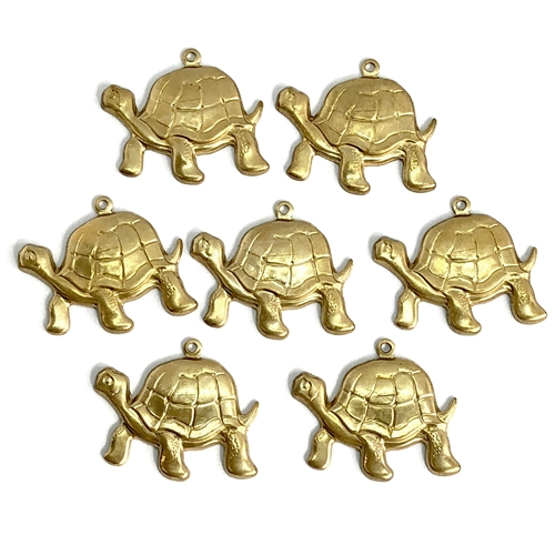 brass turtle charm, sea life, raw brass, 07186, vintage jewelry supplies, US made, nickel free jewelry supplies, jewelry making supplies, bsue boutiques, sea jewelry, beach jewelry, ocean, animals, animal charm
