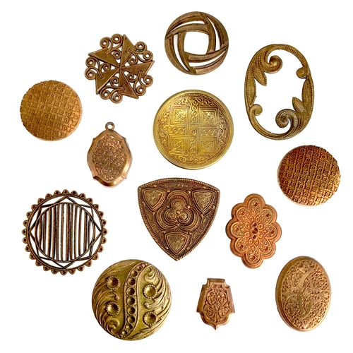 assorted brass, brass stampings, patina brass, 07214, brass medallions, brass findings, shield stamping, vintage jewelry supplies, jewelry making supplies, bsueboutiques, nickel free, US made, Bsue Boutiques