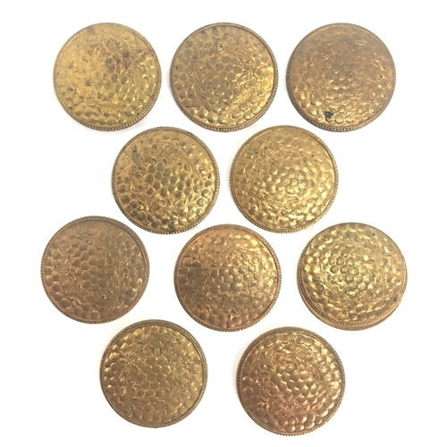 hammered medallions, round, Patina brass, 07428, raw brass, unplated brass, brass medallions, round medallions, 22mm, hammered, 10 pieces, B'sue Boutiques, jewelry supplies, boxlot