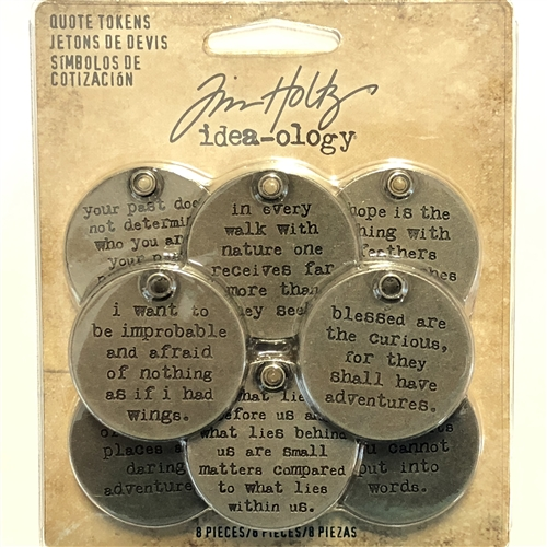 Quotable Quotes, Tim Holtz, 07458, word charms, word pendants, dark antique silver, word tokens, quotes, jewelry making supplies, jewelry makings, vintage supplies, Altered Art, steampunk art