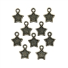 star bezel charms, cast zinc charms, bronze finish charms, star charms, bezel charms, charms, 12x10mm, ear drop, ear drop charms, bronze star charms, jewelry making, jewelry charms, stars, jewelry supplies, vintage supplies, B'sue Boutiques, 08305
