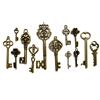 brass keys, key charms, antique brass, 09129, keys, jewelry making, jewelry supplies, Bsue Boutiques, skeleton keys, vintage keys, Victorian keys, key pendants, Tibetan keys, key findings
