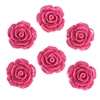 resin flowers, jewelry making, pink, 09841, jewelry supplies, B'sue Boutiques, flower, resin, rose, flat back, flowers, roses, pink rose, dimensional rose, assemblage, embellishment