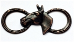 horse and horse shoe stampings, brass ox, 02184, B'sue Boutiques, nickel free, US Made, jewelry making, jewelry supplies, cowboy jewelry, brass jewelry parts, horse shoe stampings, horse stampings,rusted iron brass