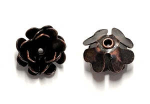 mini triple tea rose, rusted iron brass, tea rose, mini, rivet flower, rivet, flower, triple layer design, triple layer, 12mm, brass, rusted iron, nickel free, us made, B'sue Boutiques, jewelry making, jewelry supplies, vintage supplies, rose, 03505