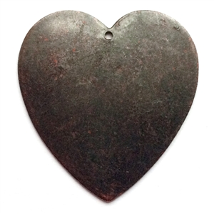 heart blank, brass hearts, jewelry supplies, 0410, rusted iron brass, antique copper, brass blanks, jewelry making supplies, vintage jewelry supplies, US made jewelry supplies, nickel free jewelry supplies, heart pendants, heart charms