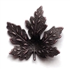 maple leaf, brass leaves, maple, rusted iron brass, brass maple leaves, brass stamping, iron, brass, iron brass,  us made, nickel free, b'sue boutiques, jewelry making, jewelry findings, vintage supplies, jewelry supplies, 0610, 31mm