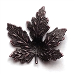 maple leaf, brass leaves, maple, rusted iron brass, brass maple leaves, brass stamping, iron, brass, iron brass,  us made, nickel free, b'sue boutiques, jewelry making, jewelry findings, vintage supplies, jewelry supplies, 0610