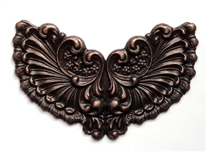 brass stampings, brass wings, rusted iron, 0617, antique copper, vintage jewelry supplies, nickel free jewelry supplies, B'sue Boutiques, brass jewelry findings